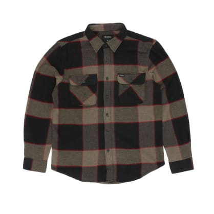 Brixton Bowery Long Sleeved Shirt - Heather Grey/Charcoal