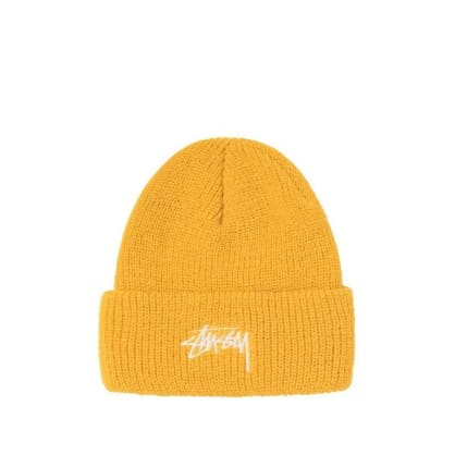 Stüssy Stock Cuff Beanie - Yellow