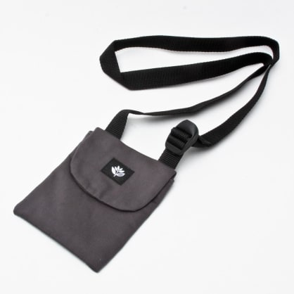 Magenta Pouch Bag Grey