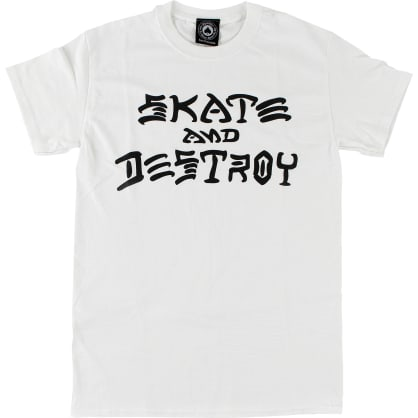 Thrasher Skate and Destroy Tee (White)
