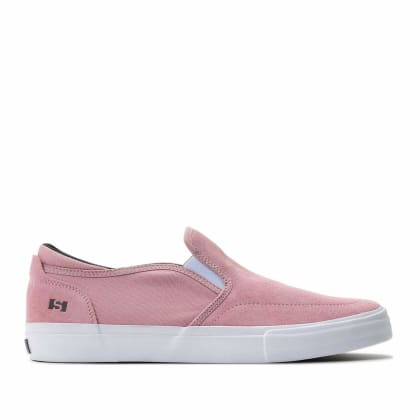 State Keys Slip On Suede Skate Shoes - Candy Pink / White