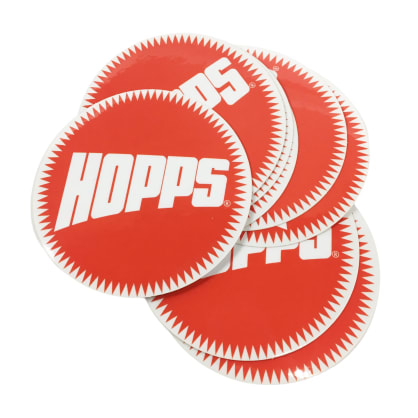 Hopps Sun Logo Stickers (10 Pack)