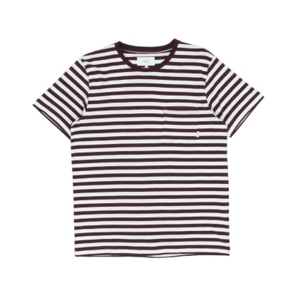 Makia Verkstad T-Shirt - Wine/White
