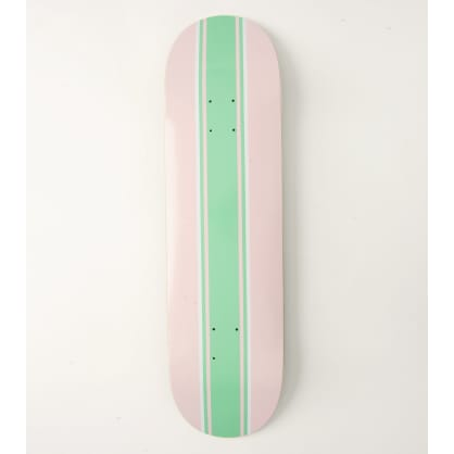 Skateboard Cafe Stripe Skateboard Deck Pink/Teal - 8.75""