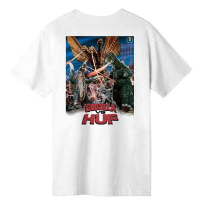 HUF vs Godzilla Destroy All Monsters T-Shirt - White