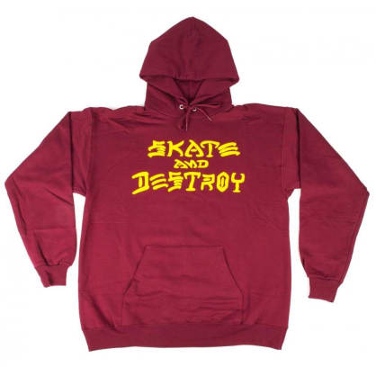 Thrasher Skate And Destroy Logo Hoodie - Maroon
