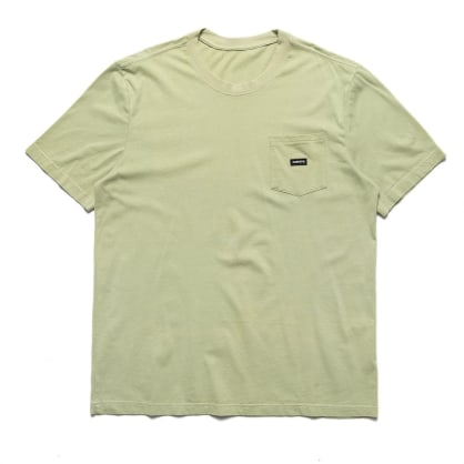 Chrystie NYC Small Patch Pocket T-Shirt - Weed Green