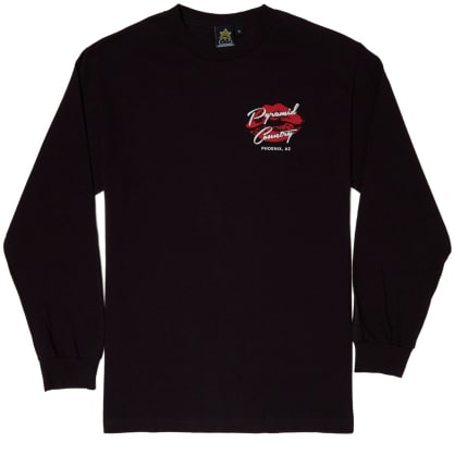 Pyramid Country Gentlemen's Club Long Sleeve Tee Black