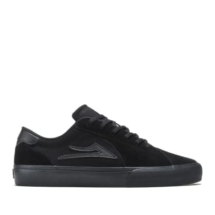 Lakai Flaco 2 Suede Skate Shoes - Black / Black