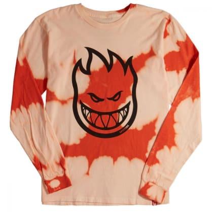 Spitfire Bighead L/S T Shirt Orange Wash/Black