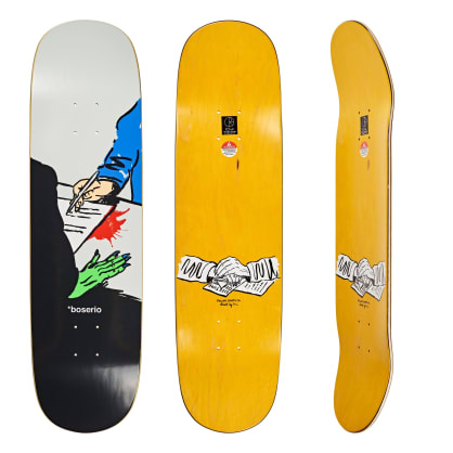 Polar Skate Co. Nick Boserio Lifetime Deal Skateboard Deck - P2 Shape