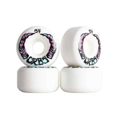 Welcome Skateboards - 54mm Orbs Apparitions 99a Wheels - White