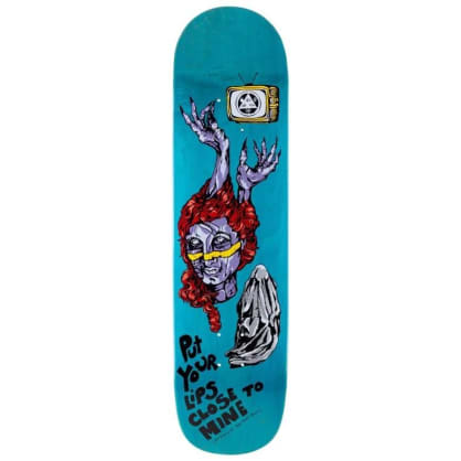 Welcome Skateboards- Bedlam On Bunyip Mid Teal Stain Deck 8.25""