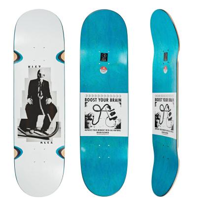 "Polar Skate Co. Klez Zawisza Brain Blower White Skateboard Deck - 8.5"""