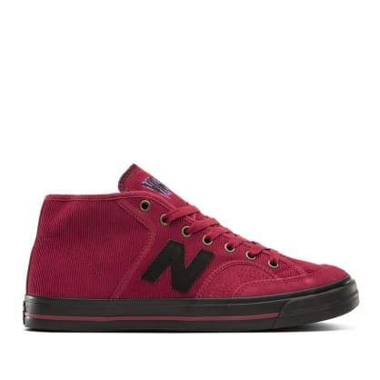 New Balance Numeric Pro Court Mid 213 Shoes - Burgundy / Black