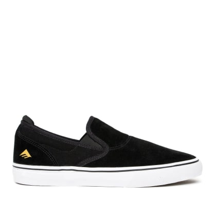 Emerica Wino G6 Slip On Skate Shoes - Black / White / Gold