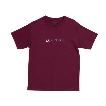 Quasi Wordmark T shirt- Burgundy