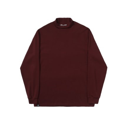 Helas - Turtleneck Longsleeve T-Shirt - Burgundy