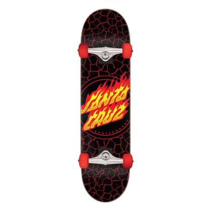 "Santa Cruz - 8.0"" Flame Dot Complete Skateboard - Black"