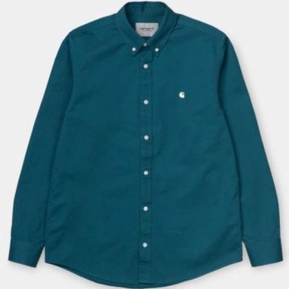 Carhartt WIP - L/S Madison Shirt - Moody Blue/Wax