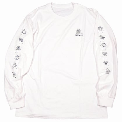 North Zodiac Logo Long Sleeve T-shirt - White/Black
