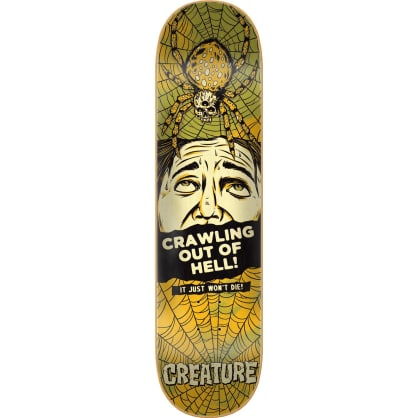 Creature Horror Feature Large Medium Skateboard Deck Black/Yellow - 8.375