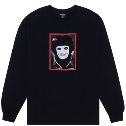 Hockey No Face Long Sleeve T-Shirt - Black