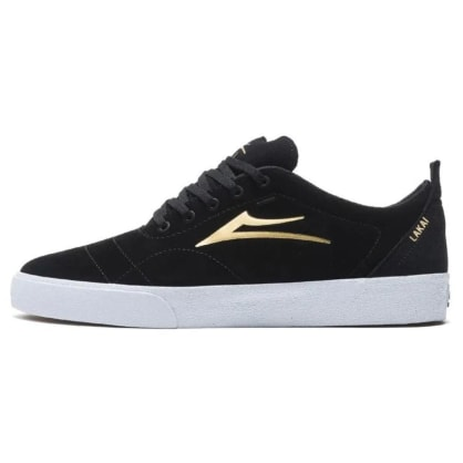 Lakai Bristol Shoes - Black/Gold Suede