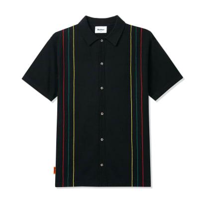 Butter Goods Stripe Knit Shirt - Black