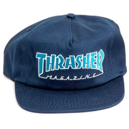 Thrasher Snapback Cap Outlined Navy/Grey