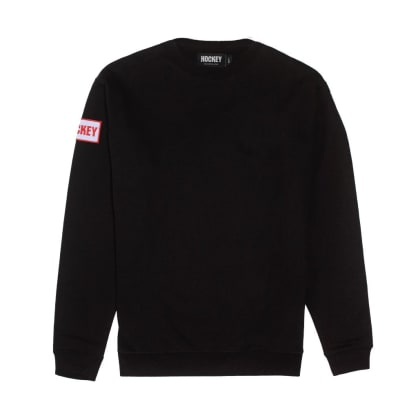 Hockey Patch Crewneck Black