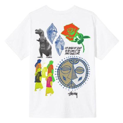 Stussy Funky Tribe T-Shirt White