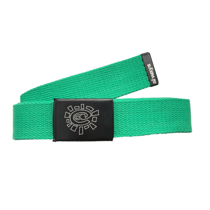 always do what you should do - green canvas belt