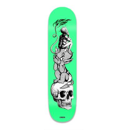 "Quasi Hot Baby Skateboard Deck Green - 8.625"""