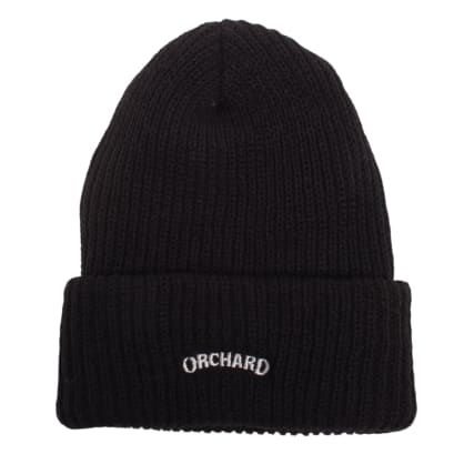 Orchard Text Logo Watch Cap Black/Pearl