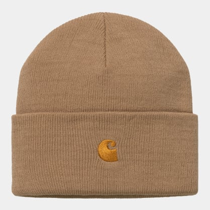 Carhartt WIP - Chase Beanie - Dusty Hamilton Brown / Gold
