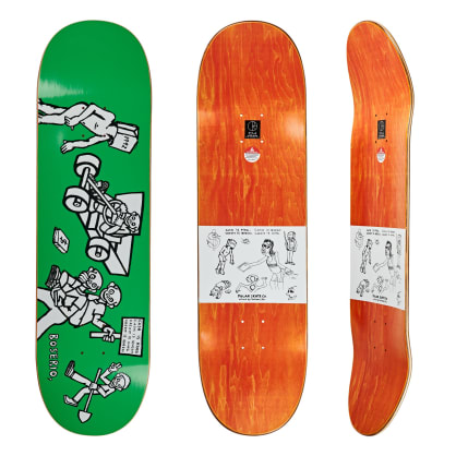 Polar Skate Co Nick Boserio Cash Is Queen Green Skateboard Deck - 8.75""