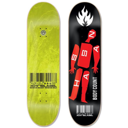 Black Label Skateboards- Omar Hassan Body Count Deck 8.38""