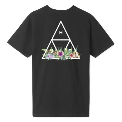 HUF Botanical Garden Triple Triangle T-Shirt - Black
