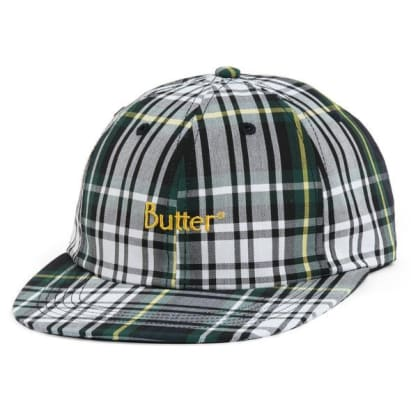 Butter Goods Plaid 6 Panel White
