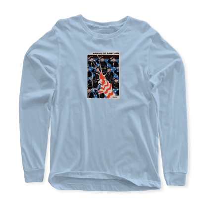 Politic- Pawns of Babylon Long Sleeve Powder Blue