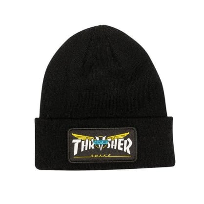 Thrasher Venture Collab Patch Beanie - Black