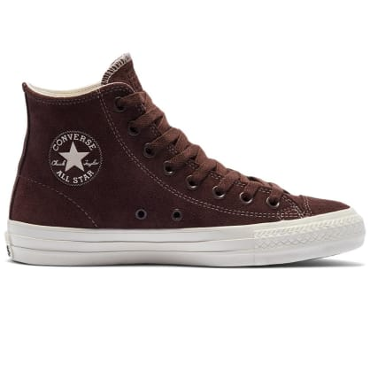Converse Cons CTAS Pro High Top Suede Skate Shoes - Dark Root / Egret