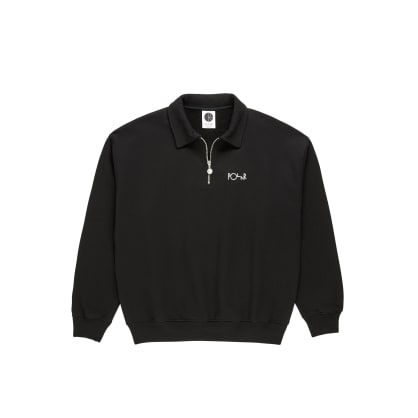 Polar Skate Co Collar Zip Sweatshirt - Black