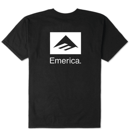Emerica Brand Combo T-Shirt - Black