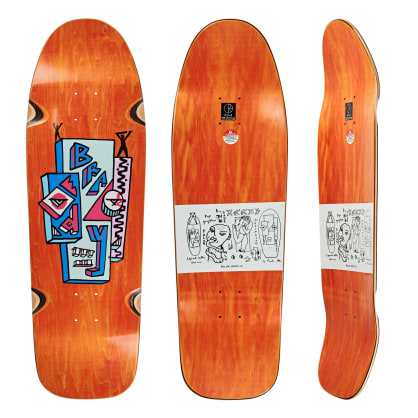 "Polar Skate Co Dane Brady Skyscraper Orange Skateboard Deck - 9.75"" Dane 1 Special Shape"