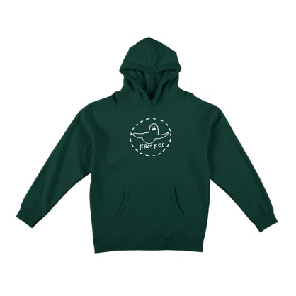 Krooked Skateboards Trinity Pullover Hoodie Green
