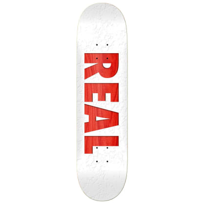 Real Skateboards R1 Deck - White/Red - 8.5""