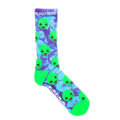 Rip N Dip - We Out Here Socks - Purple Tie Dye