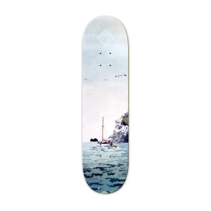 "The National Skateboard Co. - 8.5"" Sailing Boat Skateboard Deck - (High Concave)"